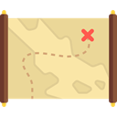 Maps And Flags, Maps And Location, Map, compass, Orientation, treasure map, Direction, pirate, treasure Khaki icon