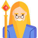 Fairy Tale, wizard, people, Character, Avatar, legend, Fantasy, Folklore Goldenrod icon