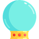future, fair, Soothsaying, Magic Ball, miscellaneous, Ball, magic Aquamarine icon