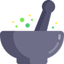 health, medical, education, Grinding, Food And Restaurant, medicine, chemical, Mortar, Pestle SlateGray icon