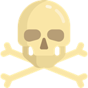 miscellaneous, poison, pirate, Skull And Bones, Jolly Roger NavajoWhite icon
