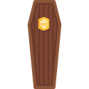 death, halloween, coffin, wooden, wood, Dead Black icon