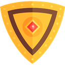 security, Protection, shield, medieval, weapons, defense Goldenrod icon