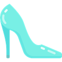 legend, Fantasy, fashion, footwear, Folklore, Fairy Tale, Cinderella Shoe Aquamarine icon