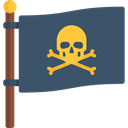 sign, flags, Piracy, pirates, Bones, Jolly Roger DarkSlateGray icon