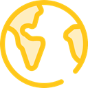 global, Geography, worldwide, Maps And Flags, Planet Earth, Maps And Location Gold icon
