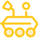 science, transportation, transport, vehicle, Automobile, Moon Rover Gold icon