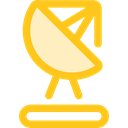 wireless, radar, antenna, technology, Communications, Satellite Dish Gold icon