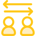 transfer, bidirectional, Arrows, right, Left, interface, Direction Gold icon