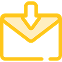 Communications, Message, mail, Note, interface, Email, envelope Gold icon