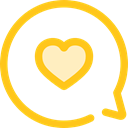 Multimedia, Chat, Communication, speech bubble, Conversation, Communications Gold icon