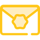 Email, envelope, Message, mail, Note, interface, Communications Gold icon