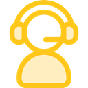 Telemarketer, support, Microphone, Avatar, customer service, technology, people, user, Headphones, Call Gold icon