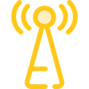 antenna, Communications, Wireless Connectivity, Wireless Internet Black icon