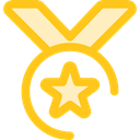 award, medal, winner, Champion, Sports And Competition Gold icon