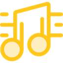 interface, music player, song, music note, musical note, Quaver, Music And Multimedia, music Gold icon