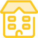 buildings, college, High School, Architecture And City, school, education Gold icon