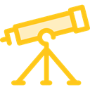 science, education, Observation, space, telescope, Tools And Utensils Gold icon