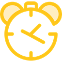 Time And Date, timer, alarm clock, Tools And Utensils, Clock, time Gold icon