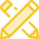 write, Pen, Draw, education, Crayon, Crayons Gold icon
