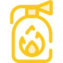 security, safety, emergency, Fire extinguisher, Tools And Utensils, Firefighting Gold icon