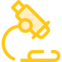 scientific, microscope, Tools And Utensils, science, medical, education, Observation Gold icon