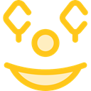 smiley, emoticons, Clown, Emoji, Smileys Gold icon