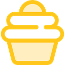 food, cupcake, baked, Food And Restaurant, muffin, Dessert, sweet, Bakery Gold icon