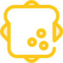 Food And Restaurant, meal, snack, Bread, sandwich, food, Lunch Gold icon