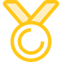 winner, Champion, reward, insignia, Sports And Competition, award, medal, Badge, Emblem Gold icon