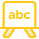 Blackboard, school, Class, Eraser, education Gold icon