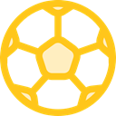 Game, sport, Football, soccer, equipment, sports, Team Sport Gold icon