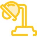 light, illumination, lamp, Desk lamp, Tools And Utensils Gold icon