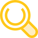 Loupe, Tools And Utensils, search, magnifying glass, zoom, detective Gold icon