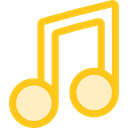 music, music player, song, musical note, Quaver Gold icon