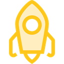 Rocket, Space Ship Launch, Rocket Launch, education, transport, Space Ship, Rocket Ship Gold icon