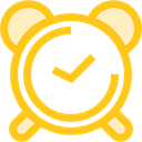 timer, alarm clock, Tools And Utensils, Clock, time Gold icon