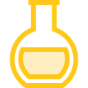 science, education, Chemistry, flask, chemical, Tools And Utensils, Test Tube, Flasks Gold icon