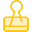 miscellaneous, Attachment, Paperclip, Clips, Tools And Utensils, School Material, Office Material Gold icon