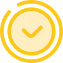 time, watch, timer, Circular Clock, Round Clock, Time And Date Gold icon