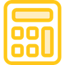 tool, calculator, Business, calculate, buttons, finances, Business And Finance Gold icon
