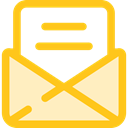 Email, envelope, Message, mail, Letter, Communications Gold icon
