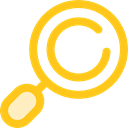search, magnifying glass, zoom, miscellaneous, detective, Loupe, Tools And Utensils Gold icon