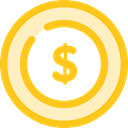 coin, Cash, Dollar, Currency, Business And Finance, Business, Money Gold icon
