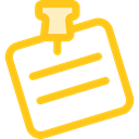Note, interface, push pin, pinned, Piled, Business And Finance, Files And Folders Gold icon