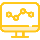 Laptop, monitor, screen, Business, Stats, Analytics, graphic, seo, Business And Finance, Seo And Web Gold icon