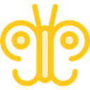 Moths, insect, butterfly, Animals Gold icon