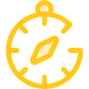 compass, Orientation, location, Direction, Tools And Utensils, Cardinal Points, Maps And Location Gold icon