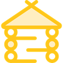 Architecture And City, Holidays, hut, outdoor, Planks, wooden, wood, storage, buildings Gold icon