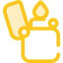 miscellaneous, lighter, fuel, petrol, gasoline, Tools And Utensils, Flaming Gold icon